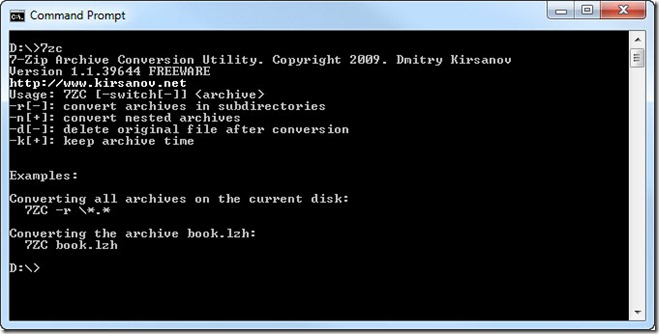 7-Zip Converter Screenshot