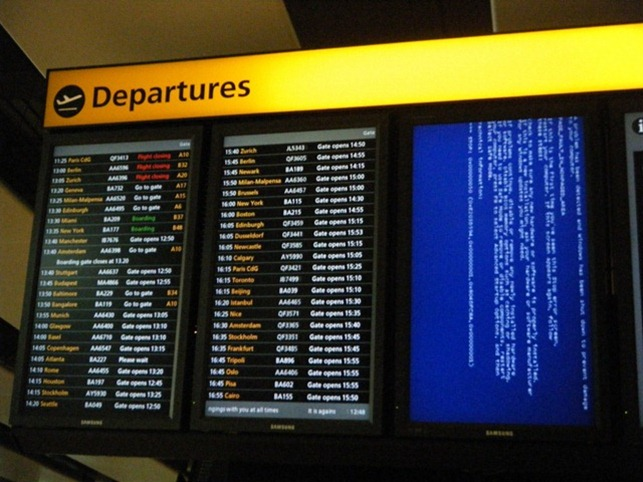 Airport error screen