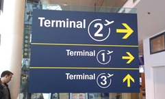 Airport sign metro style