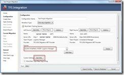 TFS Migration Configuration