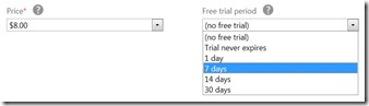 Windows Store Trial Period